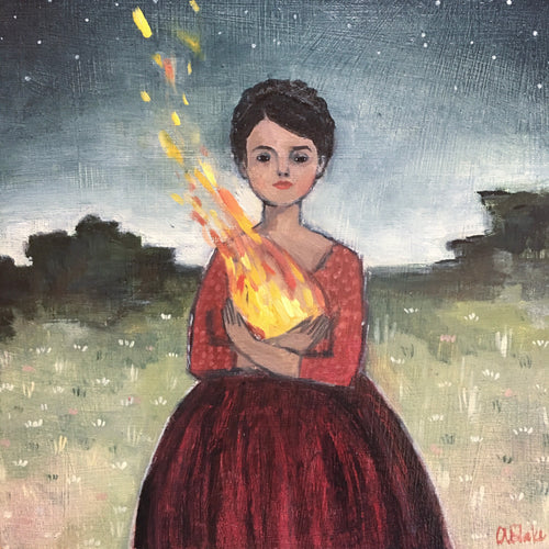 Her heart was made of fire - print