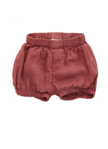 Linen Bloomers in Raspberry Red