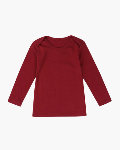 Organic Long sleeve tshirt- Cherry