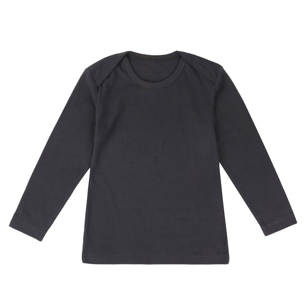 Organic Cotton Long Sleeve T-shirt- Slate