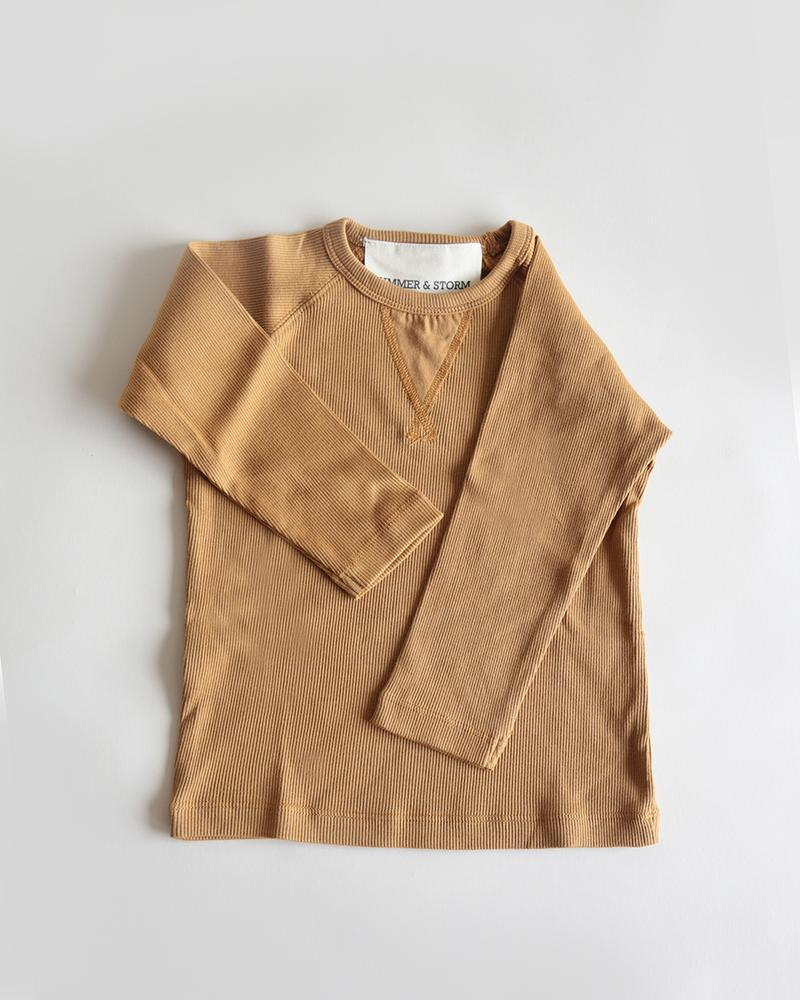 Casual Organic Long Sleeve Tee Mustard