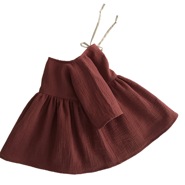 Organic cotton liilu dress chestnut