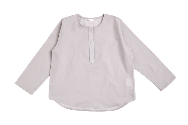Cotton Shirt in Light Grey