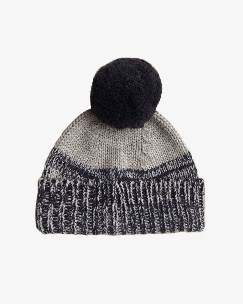 Otto Bobble Beanie - Ink/Wheat