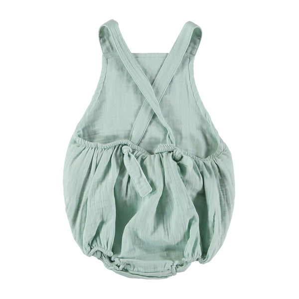 Organic cotton baby mika Romper in Mint