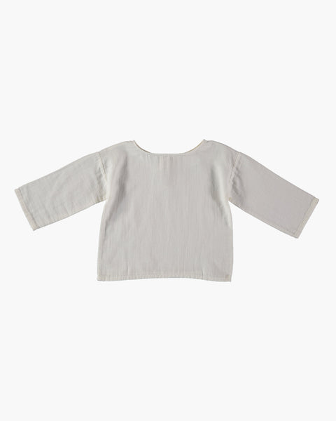 Organic cotton shirt off white