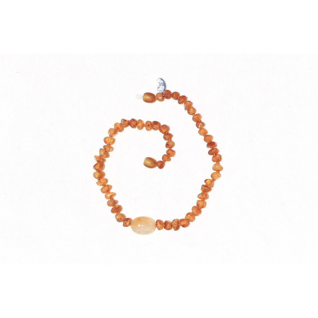 Sunset Wonderer Cognac Amber Necklace