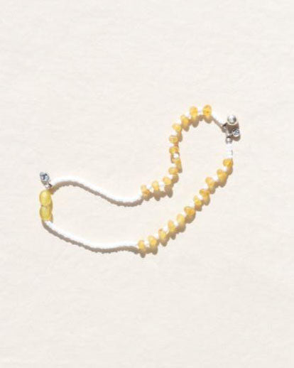 Pure Heart Lemon Amber and Silver Necklace