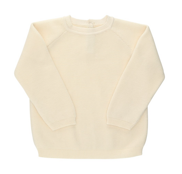 Organic Cotton Knitted Jumper (Grey & White)
