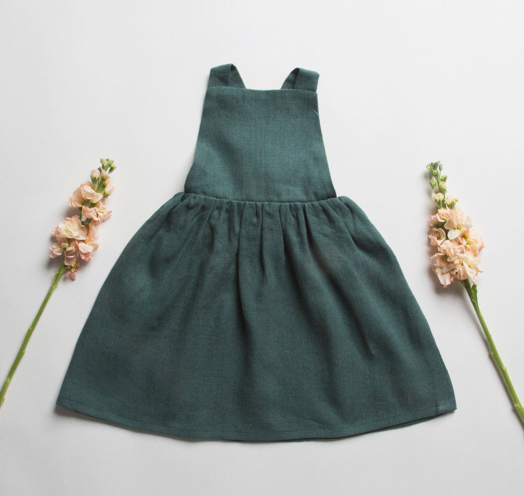 Conkers Pinafore - Deep Forest Green