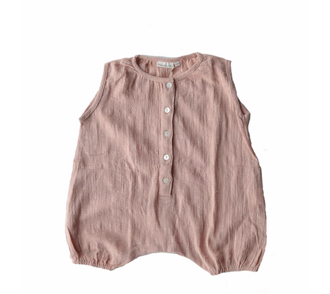 Playsuit Singlet Onesie Misty Rose