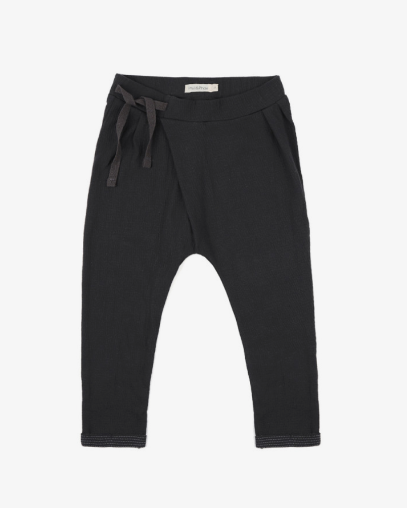 Pleated Harem Pants Charcoal