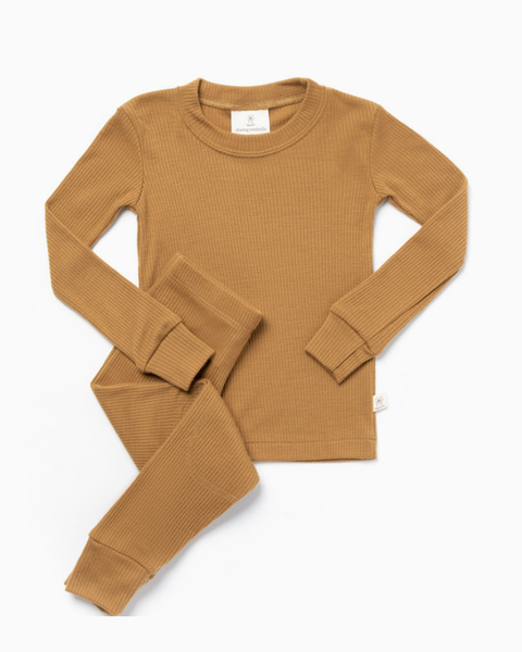 Thermal Long Johns- Harvest Gold Rib