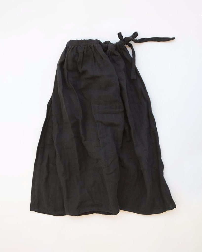 petite Tie Skirt Charcoal