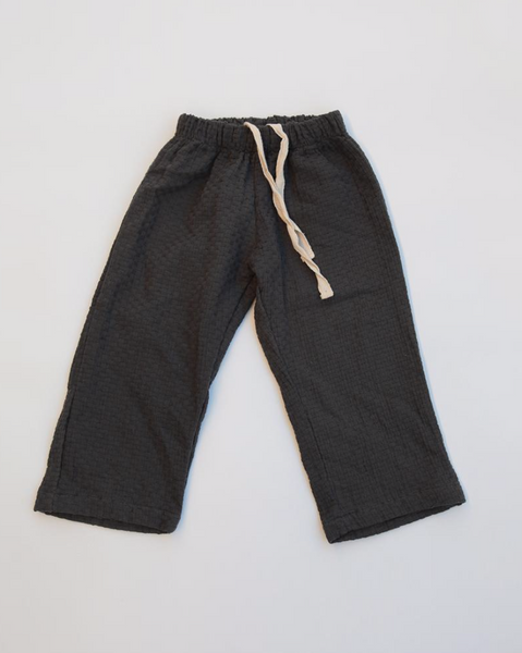 Cotton Weave Pant Charcoal