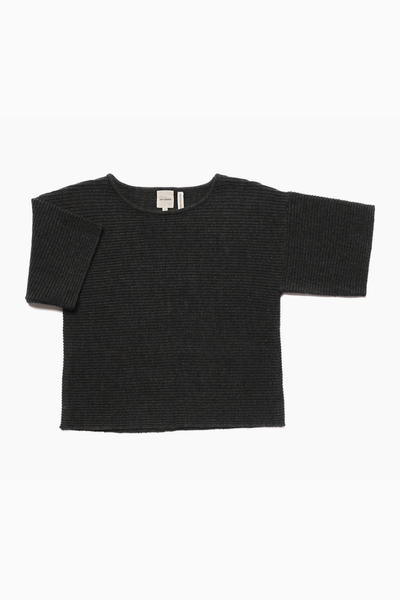 Mama Merino Wool 'Chubby T' Jumper in Dark Grey