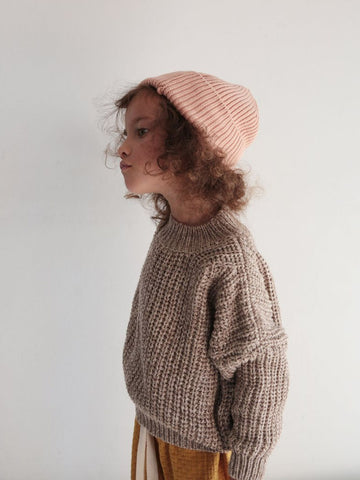 Chunky Cotton Pullover - Caramel
