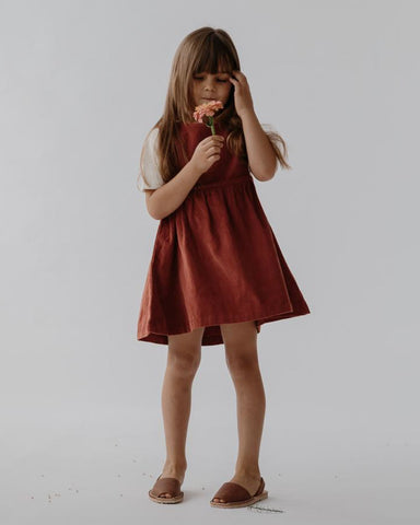 Greta Dress poppy cord