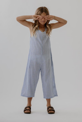 Georgia Pantsuit- Bluebird check