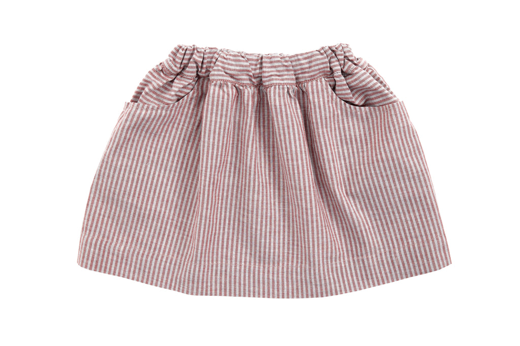 girls cotton stripy skirt