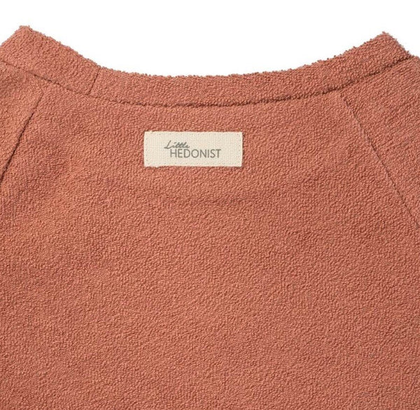 Organic Terry Cotton Sweater in Masala