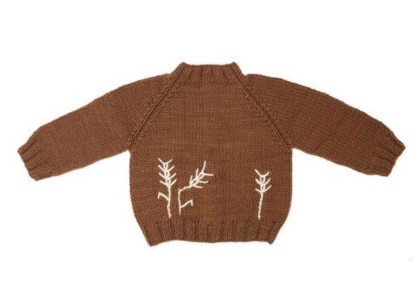 Merino Wool Naturally Dyed 'Gathering' Sweater in Grain colour