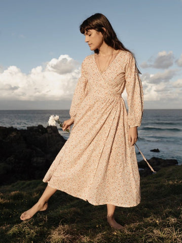 Rosamund Cotton wrap dress