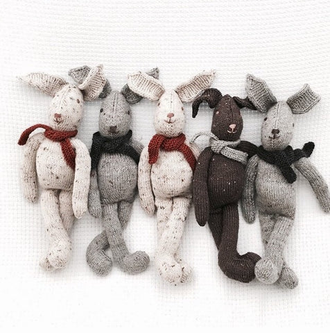 Hand-Kitted Merino Wool Bunnies