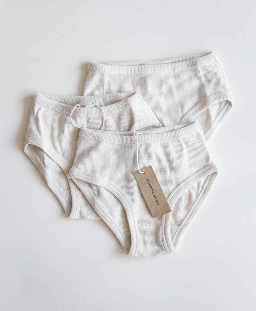 Organic Unisex Underwear - 3 pack in natural