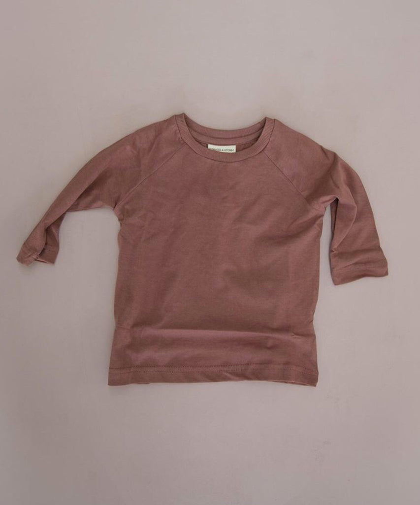 Long sleeve loose fit t shirt in rust