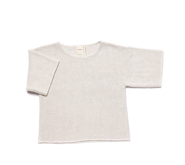 Mama Merino Wool 'Chubby T' Jumper in Pale Grey
