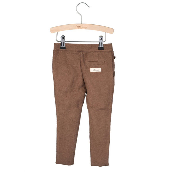 Organic Cotton Terry Pants in Chestnut