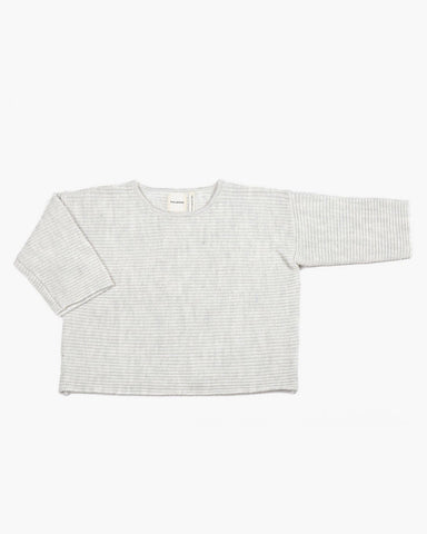 Merino Wool 'Chubby T' Jumper in Pale Grey