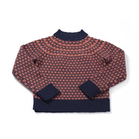 Starry jumper navy/dusty pink