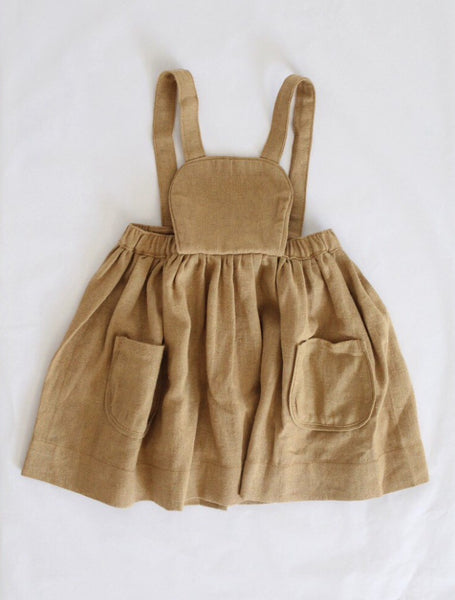 Marta Apron Dress Dark Tan