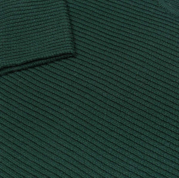 Merino Wool 'Chubby T' Jumper in Forest Green