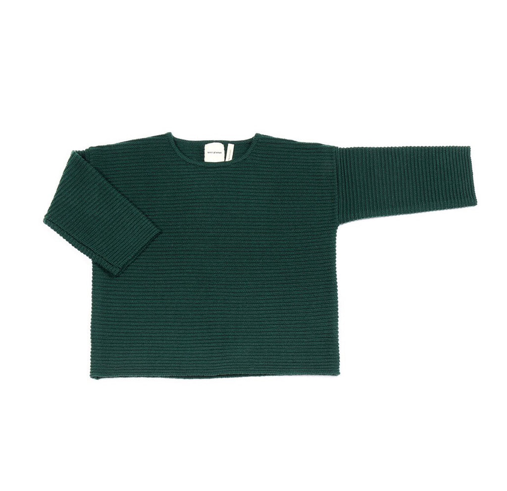 Mama Merino Wool 'Chubby T' Jumper in Forest Green