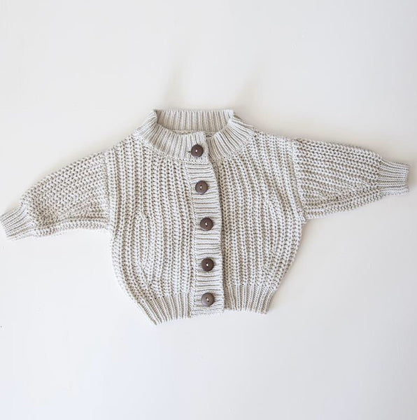 Summer and Storm chunky knit cardigan Ivory