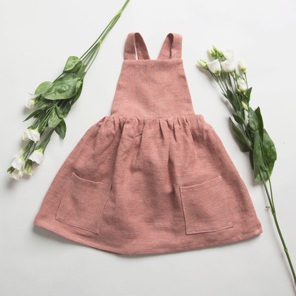 catkin kids conkers pinafore dress