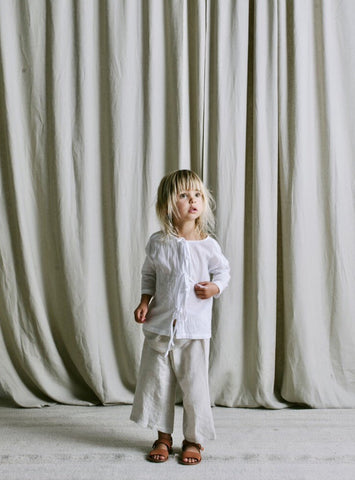 Sanne Shirt in organic white cotton