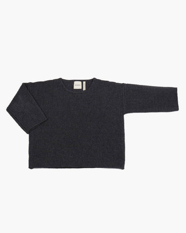 Merino Wool 'Chubby T' Jumper in Dark Grey