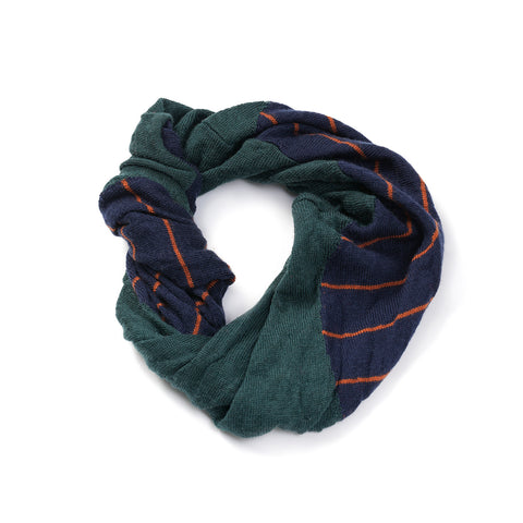 Patterned snood navy/olive