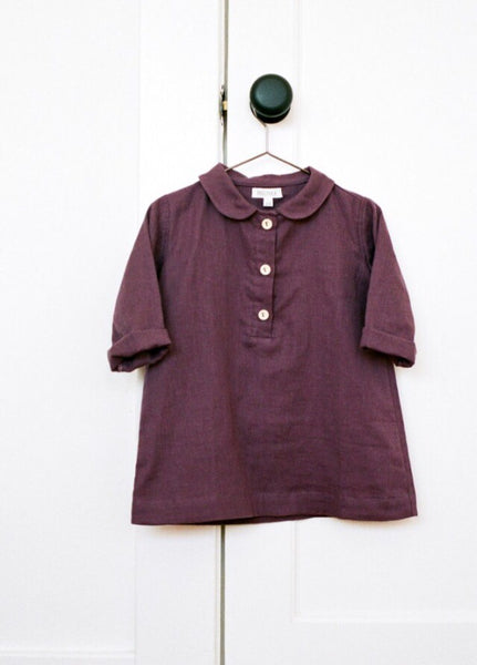 Vintage Plum Cotton Tunic Dress