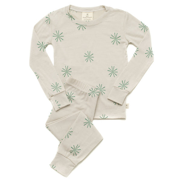 Merino Wool Pyjama Set Terra - Cotta