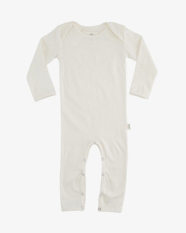 Baby Grow/Romper in Uncoloured Organic Cotton - Natural