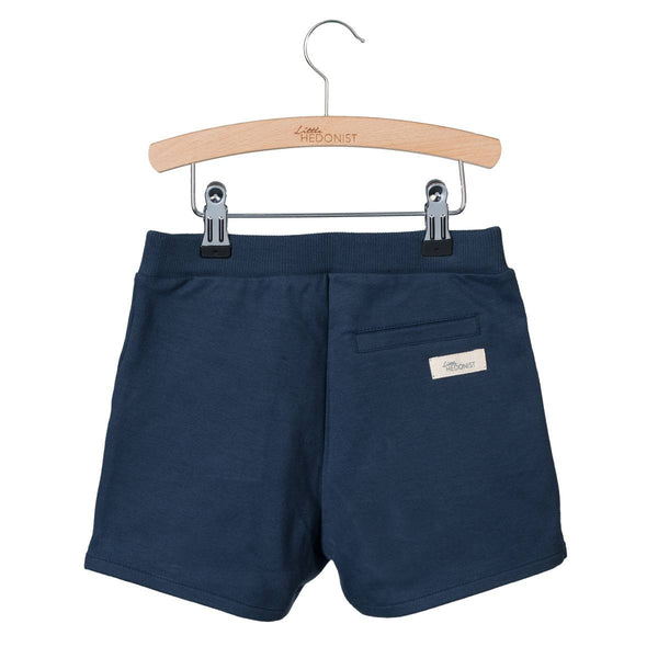 Organic Cotton Shorts in Black Iris/Dark Blue