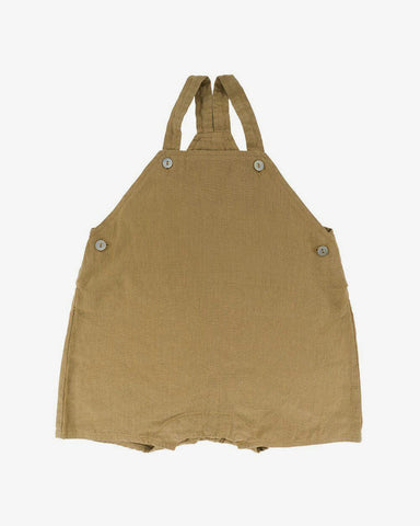 Karin Linen Dungarees in Light Oak