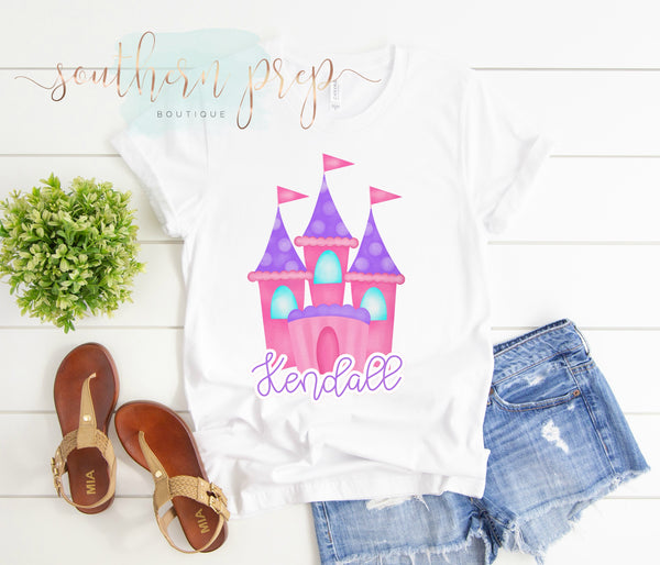 Pink / Purple Castle - Graphic Tee