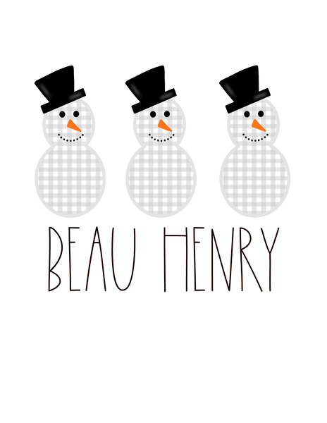 Snowman Trio (Boy) - Graphic Tee