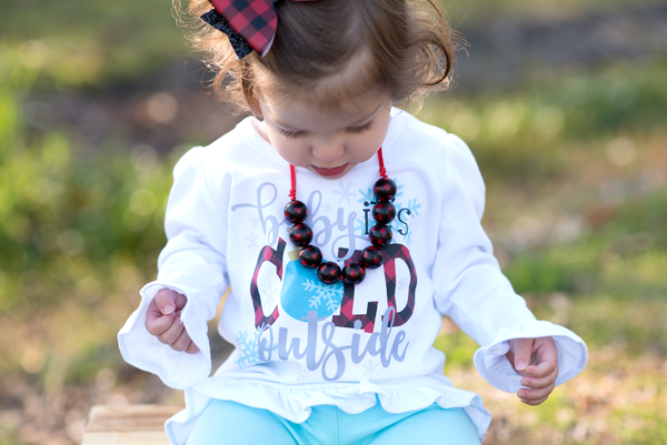 Baby it's cold outside - Buffalo Plaid - Printed Tee